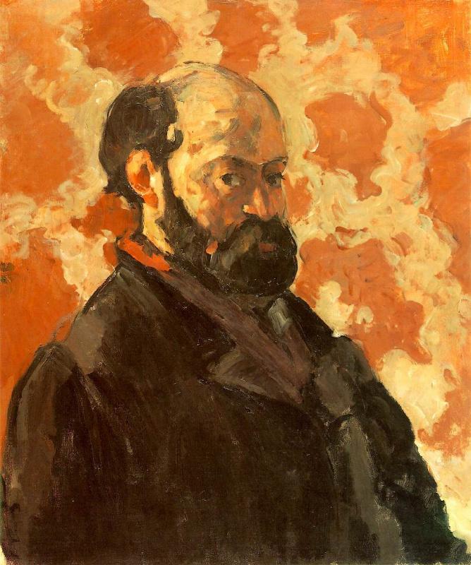 Поль Сезанн. Автопортрет на розовом фоне