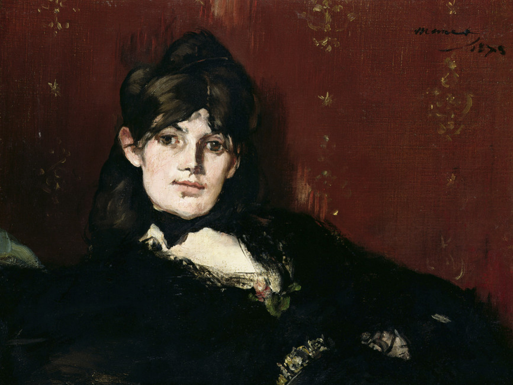 Edouard Manet. Portrait of Berthe Morisot