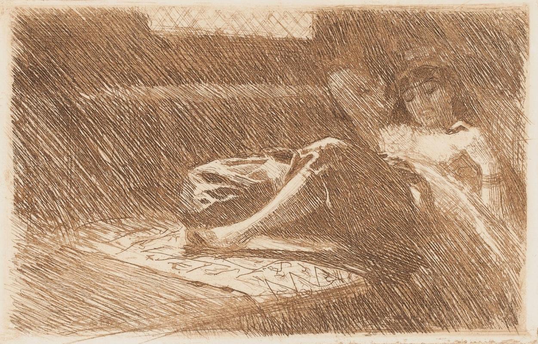 Anders Zorn. Sleeping odalisque