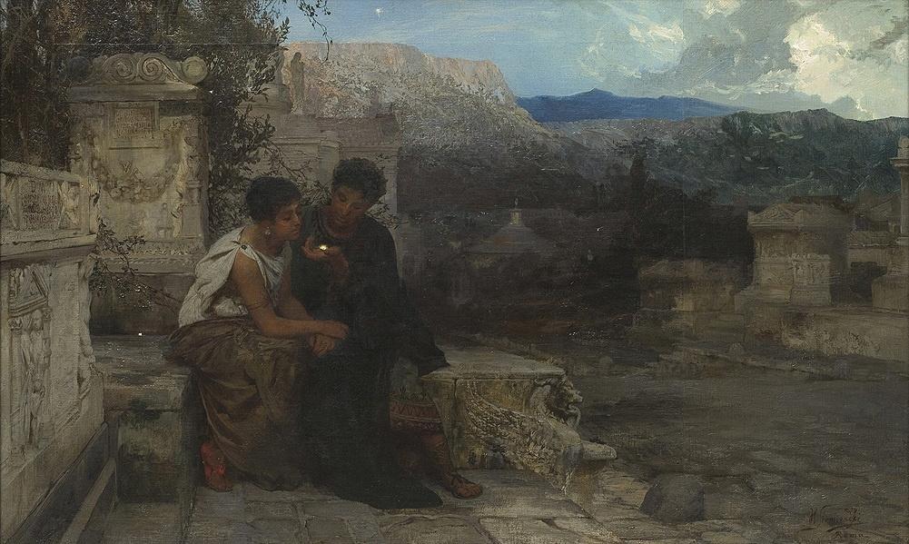 Генрих Ипполитович Семирадский. Night in Pompeii