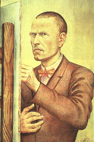 Otto Dix. Self-portrait with easel