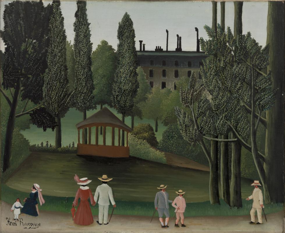 Henri Rousseau. View of Montsouris Park