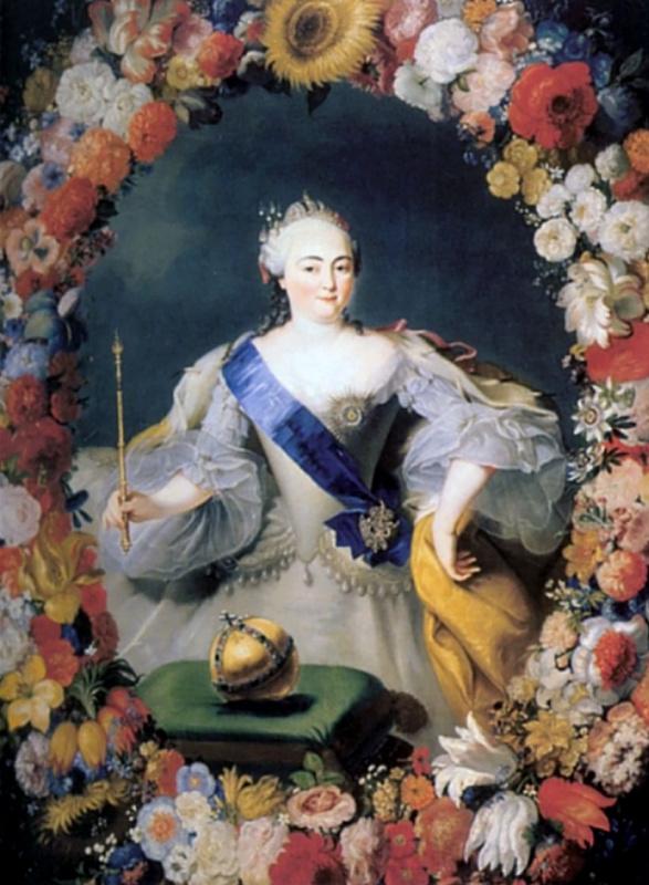 Георг Гаспар Иосиф фон Преннер. Портрет императрицы Елизаветы Петровны