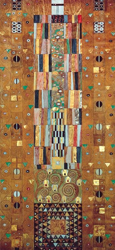 Густав Климт. Стоклет фриз. Золотой рыцарь (фрагмент)