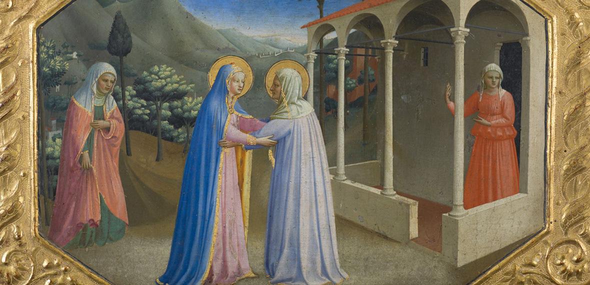 Фра Беато Анджелико. Встреча Марии и Елизаветы. Пределла алтаря Благовещение Марии