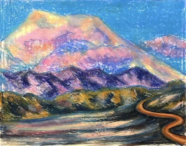 Larissa Lukaneva. Mountain road