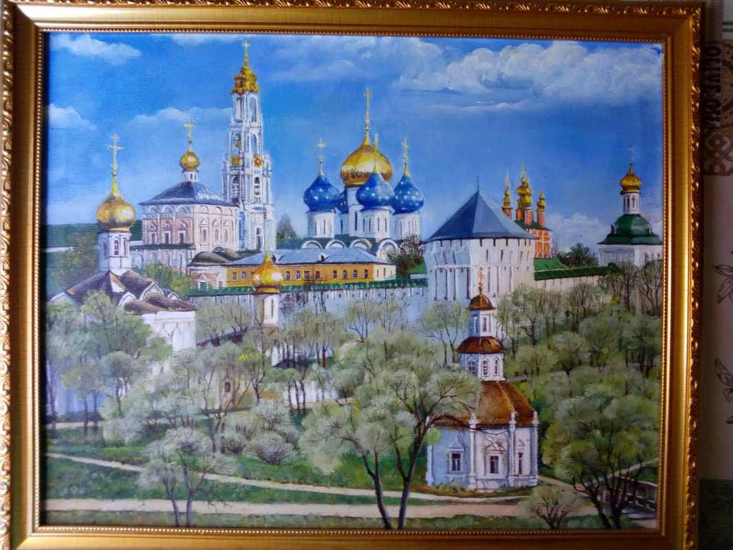 Muzalevskaya Evgenievna Julia. View of the Trinity-Sergius Lavra