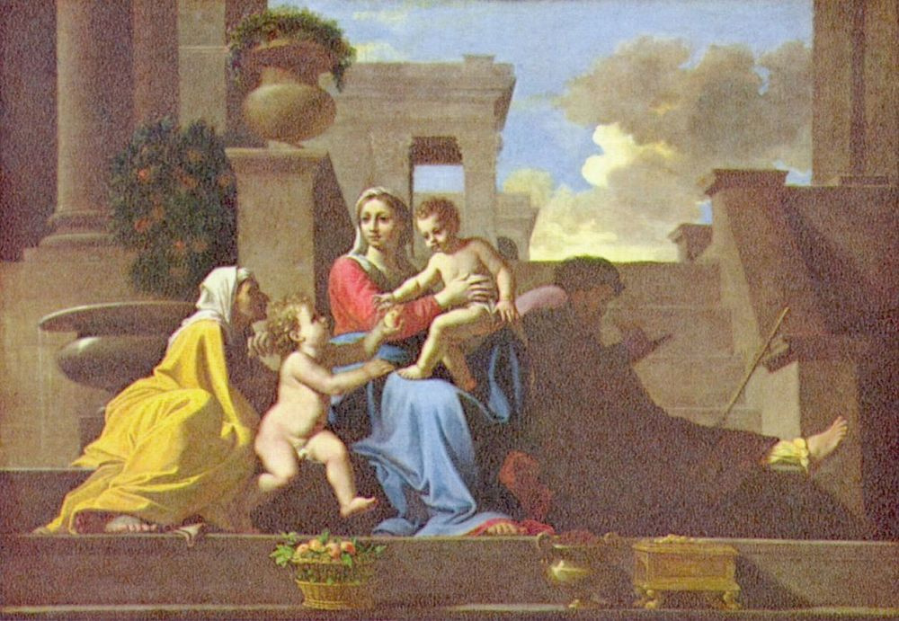 Никола Пуссен. Святое семейство у лестницы