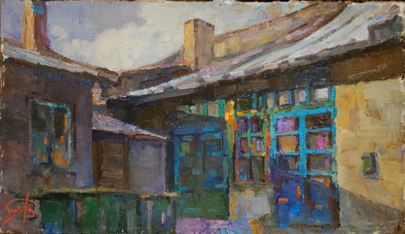 Alexander Simachenko. Babushkino porch..almost not changed...