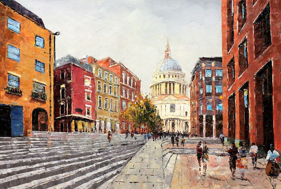 (no name). London. City. View of St. Paul's Cathedral