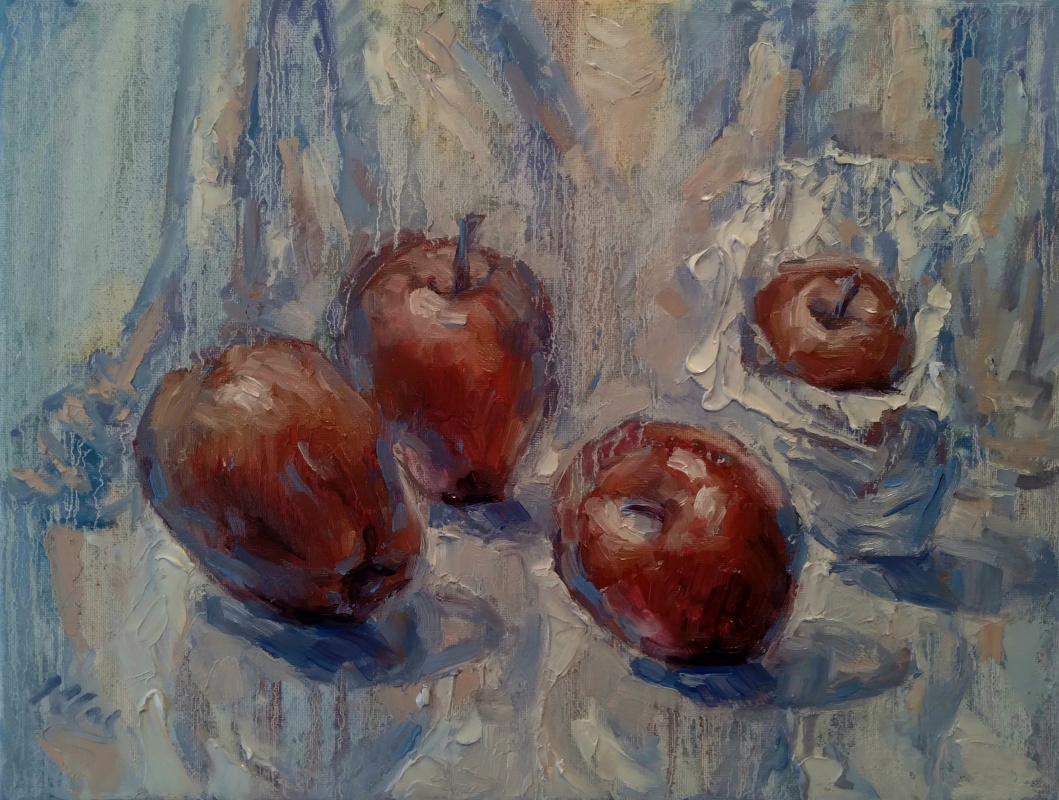 Pears and Apples - (Triptych)