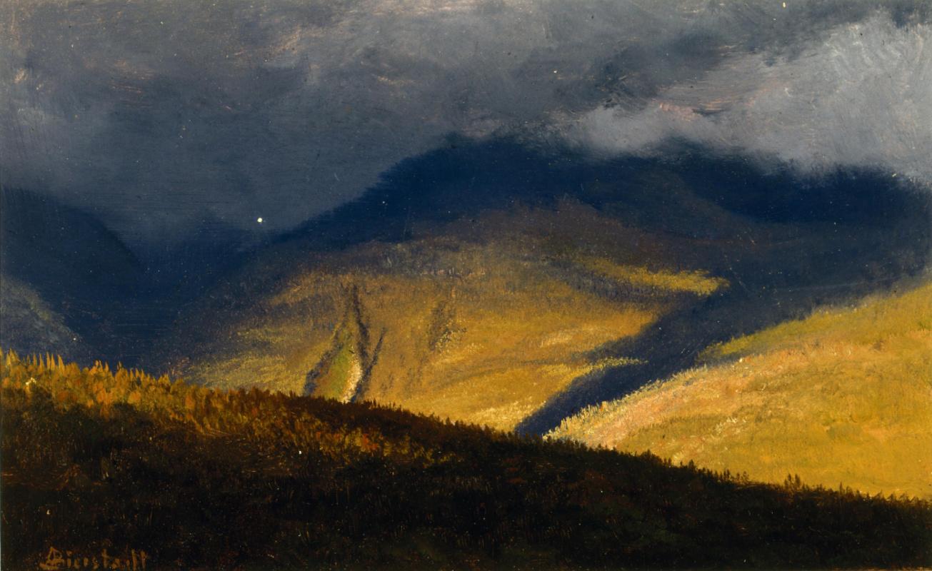 Альберт Бирштадт. Облака над холмами. Этюд