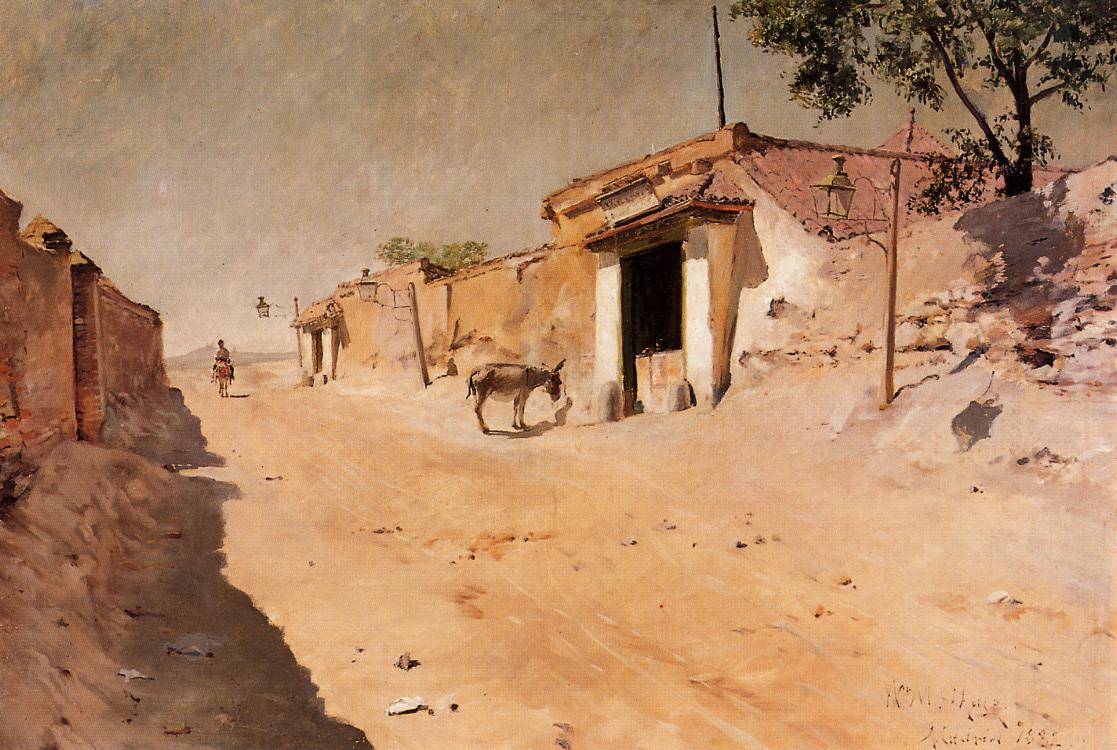 William Merritt Chase. Spanish village