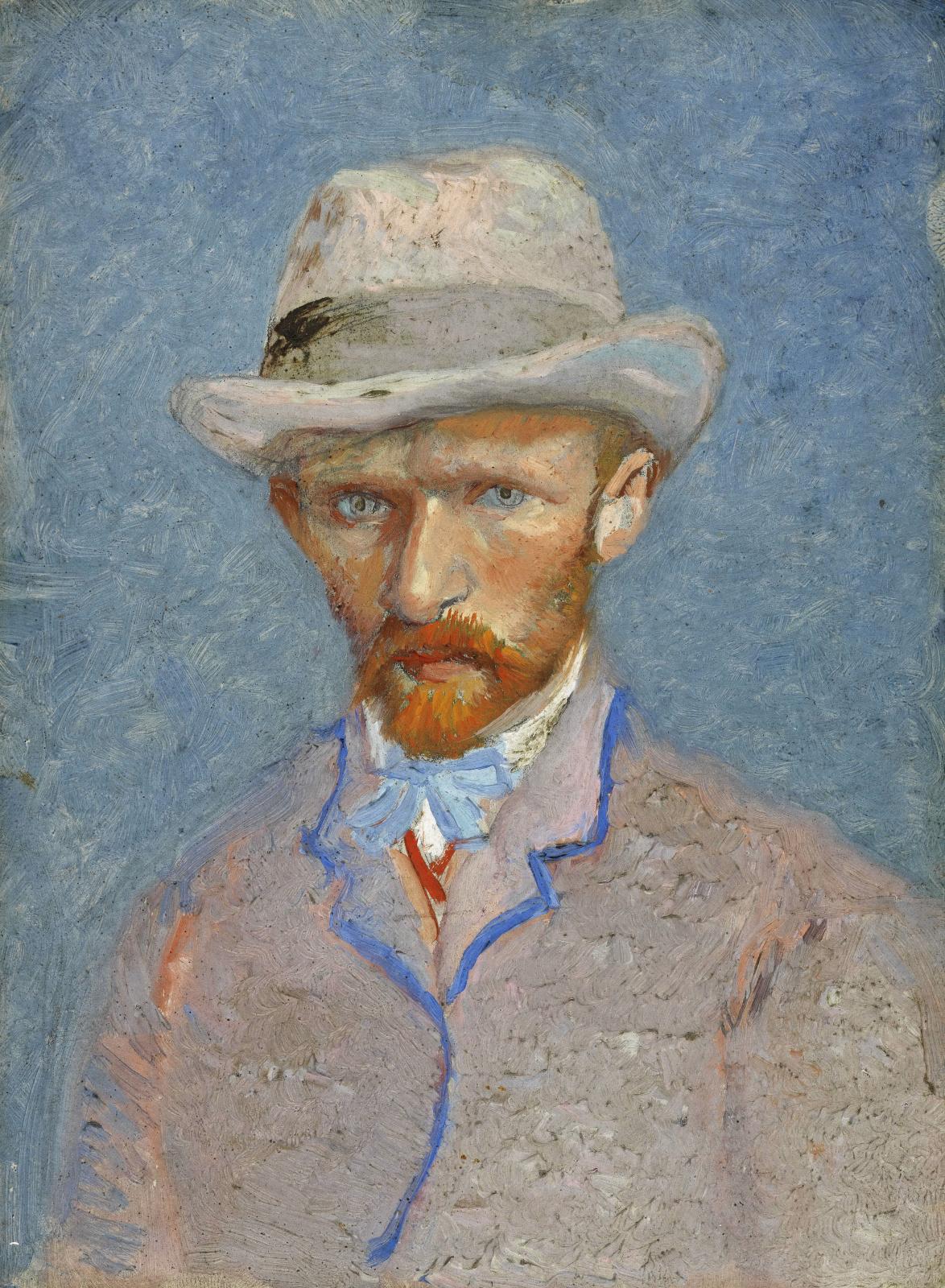 Винсент Ван Гог. Автопортрет в серой фетровой шляпе