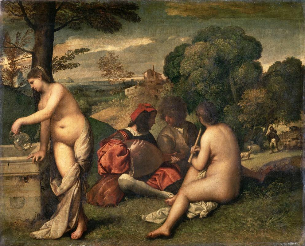 Giorgione. Rural concert