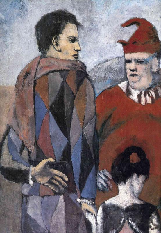 Пабло Пикассо. Семья комедиантов (фрагмент)