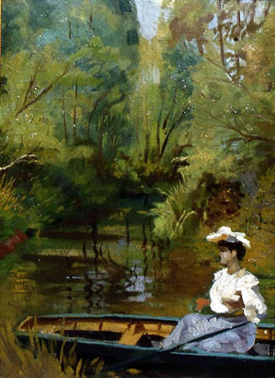Lila Cabot Perry. In the boat. Giverny