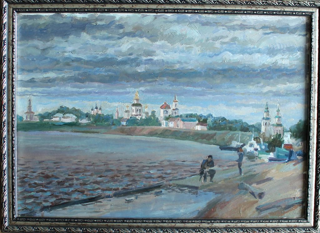 Alexey Andreevich Vasiliev. Great Ustyug. Windy afternoon