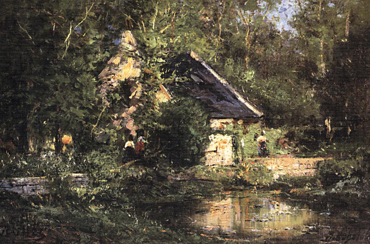 Alexey Petrovich Bogolyubov. The mill in Vela. Spring
