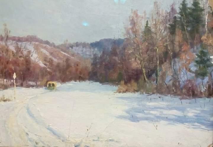 Boris Nikolaevich Loshkarev. Winter landscape