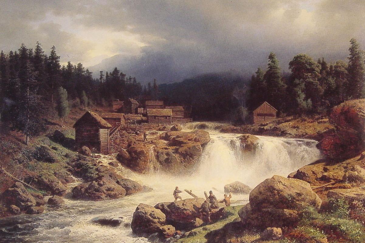 Герман Оттомар Герцог. Норвежский пейзаж