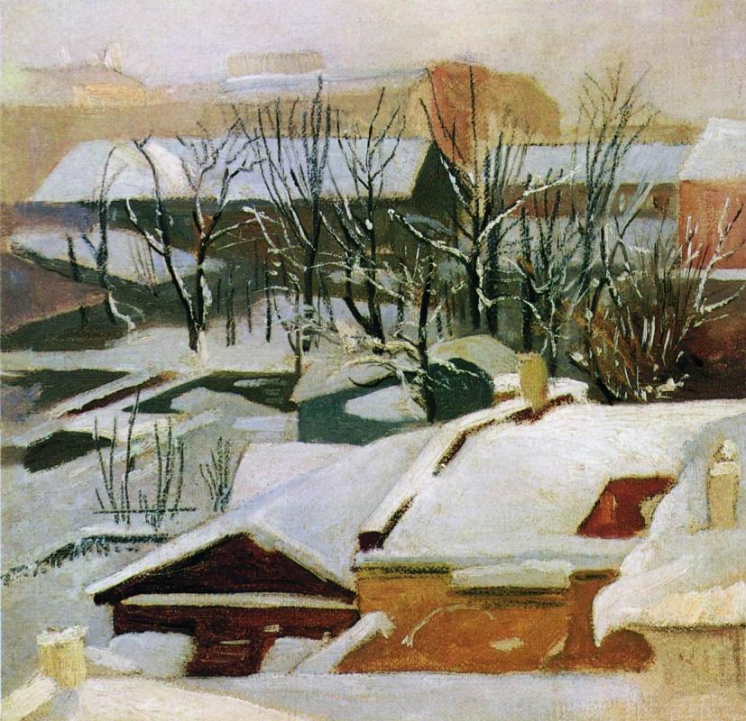 Иван Иванович Шишкин. Городские крыши зимой