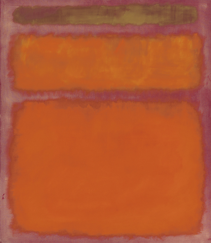 Rothko Mark. Orange, red, yellow