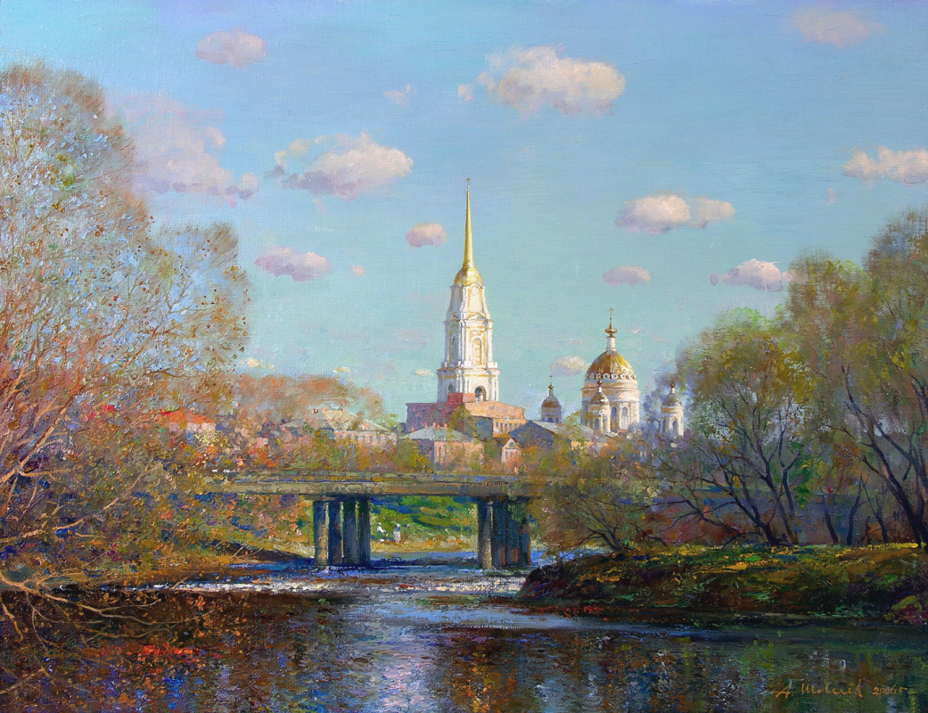 Alexander Shevelyov. May noon. oil on canvas 49 x 63,5 cm.2006