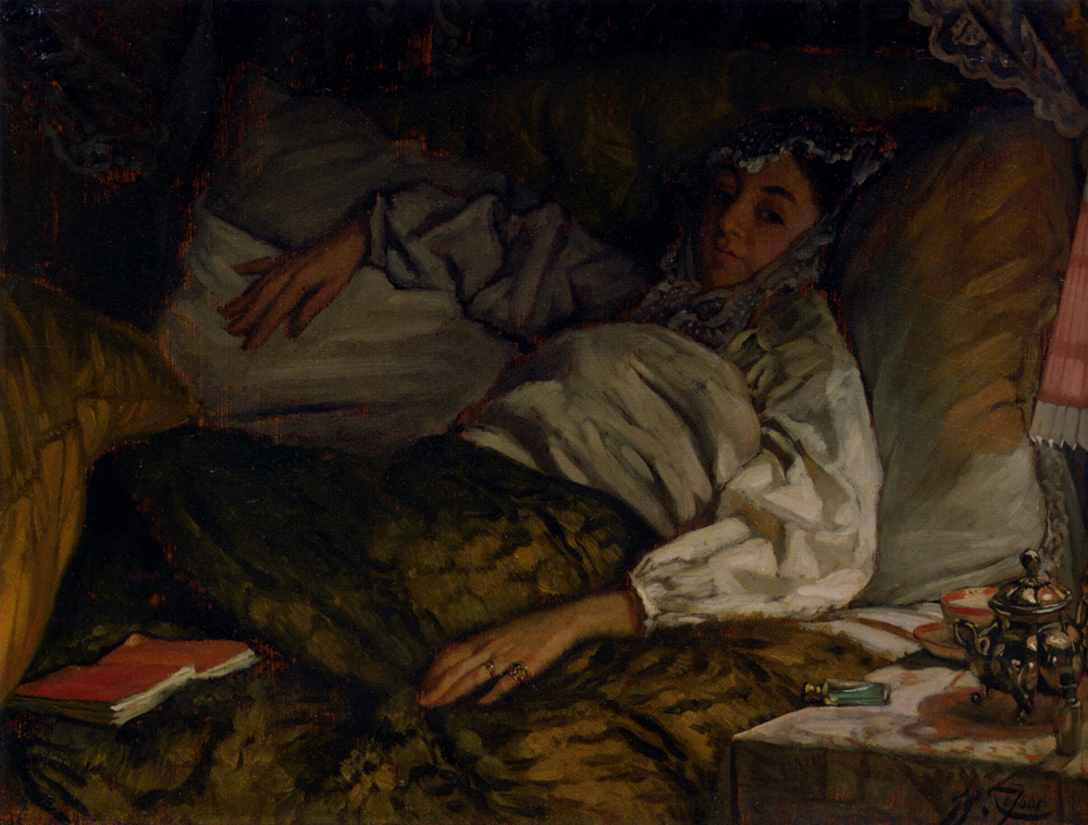 James Tissot. Lying lady