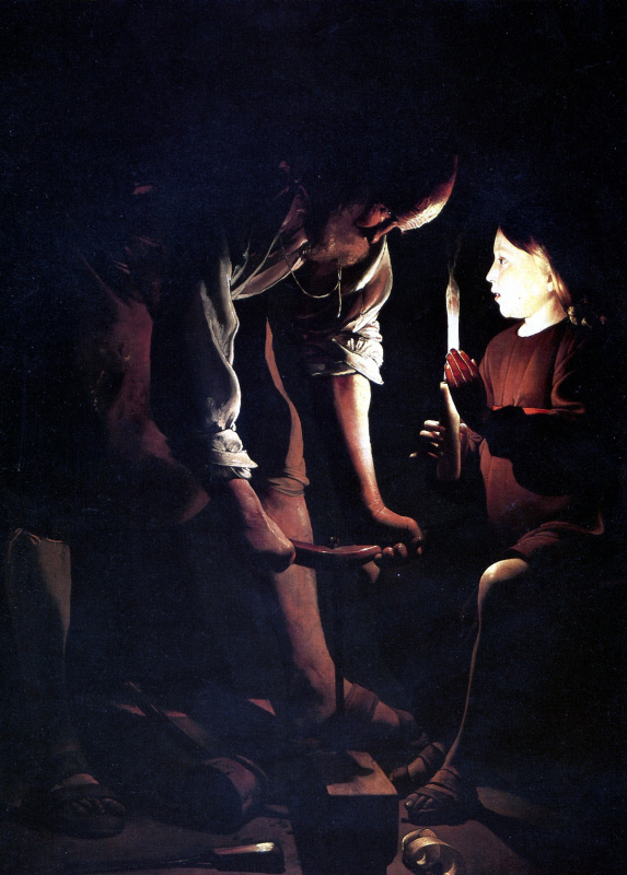Georges de La Tour. Saint Joseph the carpenter