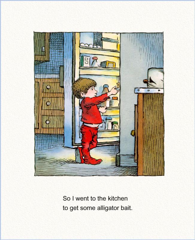 Мерсер Мейер. Иллюстрация к книге Там крокодил под моей кроватью 09