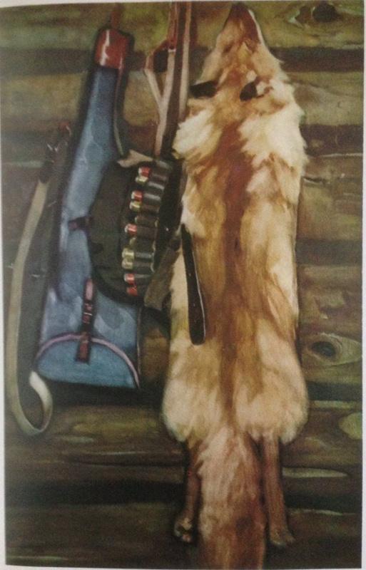 """Нина Ивановна Гаврилова. """"Охотничий натюрморт"""", 1972г., бум./акварель, 100х65"""