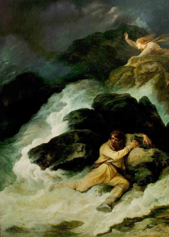 """Филипп Якоб Лютербург. """"Буря"""" (Акт I, сцена 1, """"Кораблекрушение"""")"""
