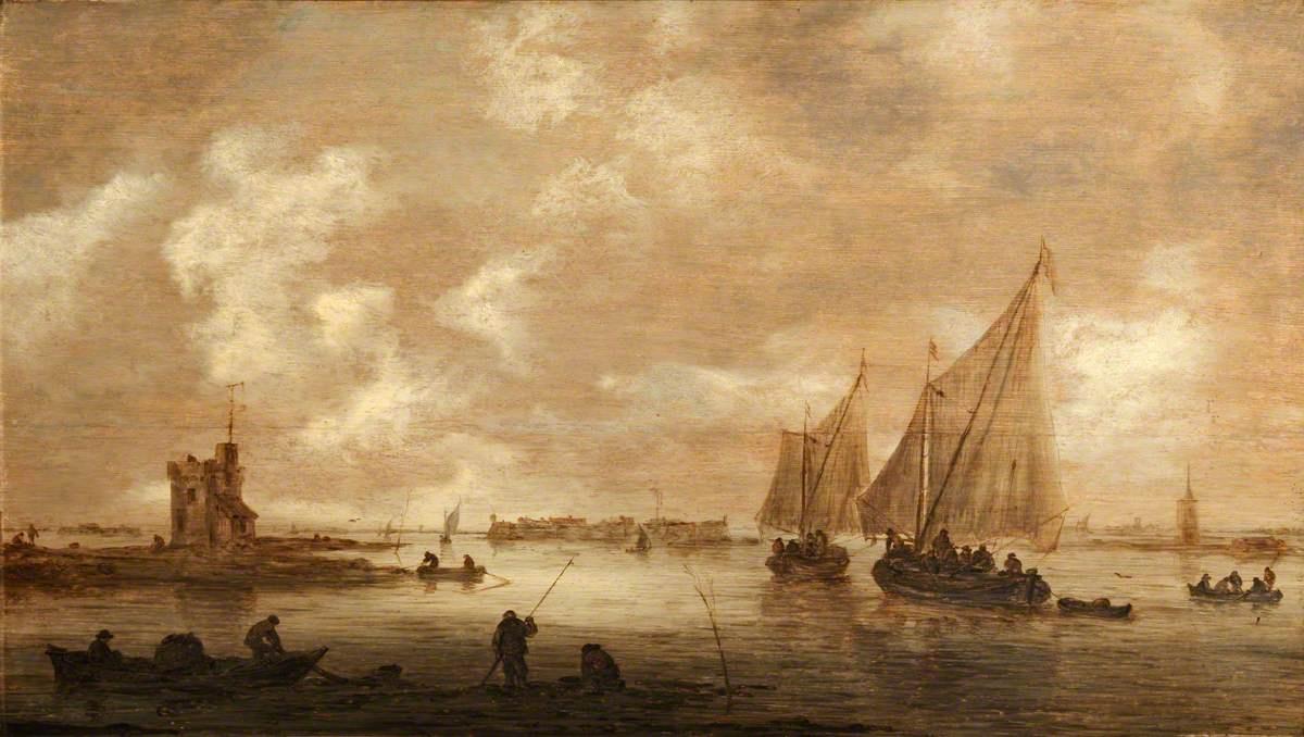 Jan van Goyen. The mouth of the river