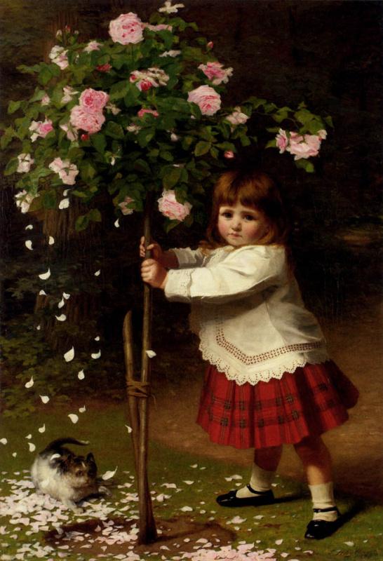 Джеймс Хауллар. Маленькая девочка и цветы