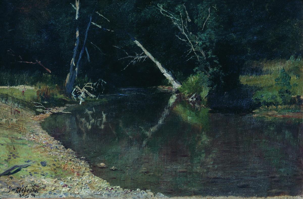 Nikolay Aleksandrovich Yaroshenko. Forest River. 1882