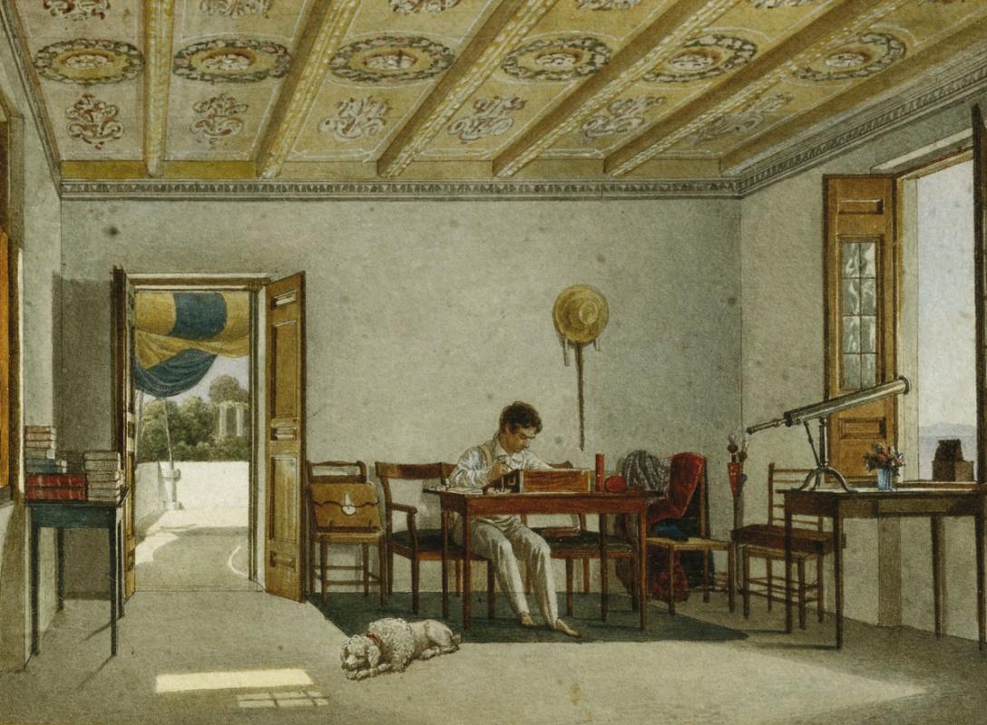 Alexander Pavlovich Bryullov. Count V.A. Perovsky in Sorrento. 1824