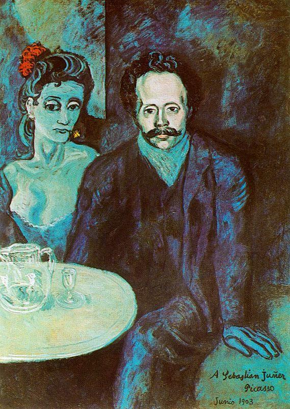 Пабло Пикассо. Портрет Себастьяна Видала с женщиной