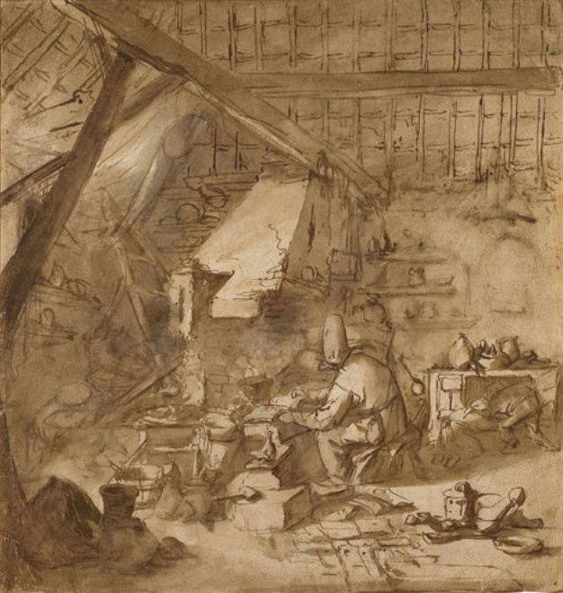 Adrian Jans van Ostade. Workshop of the alchemist