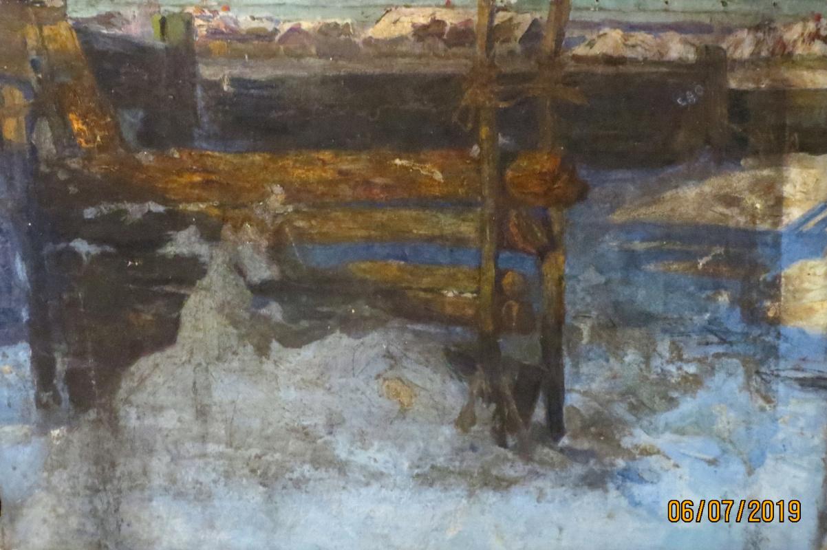 V.V. Honorsky. Yard in winter