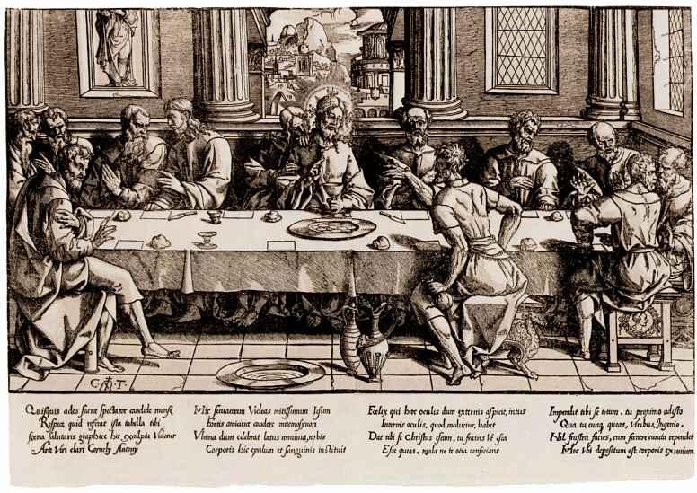 Cornelis Teinissen. The last supper