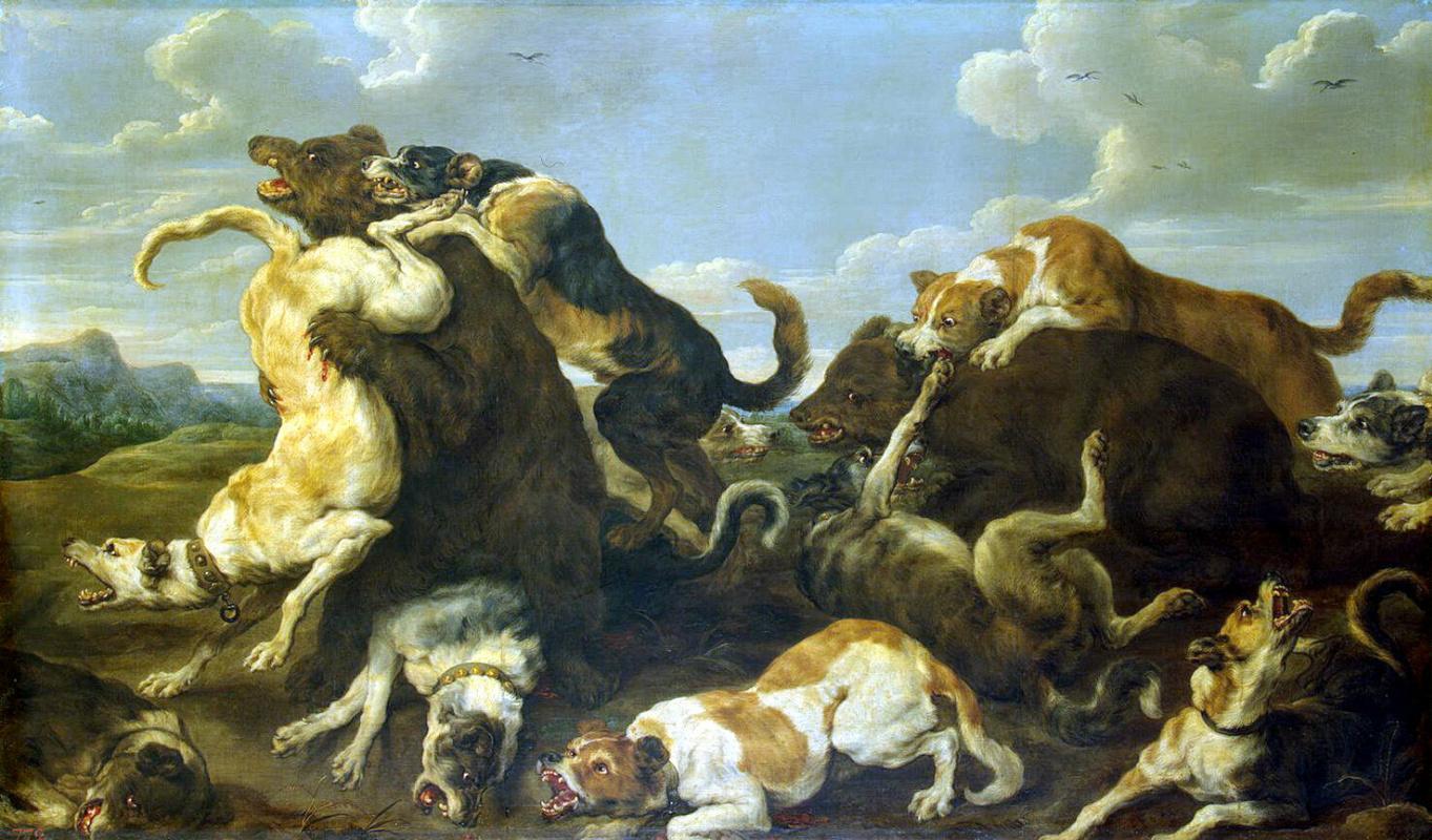 Пауль де Вос. Охота на медведей