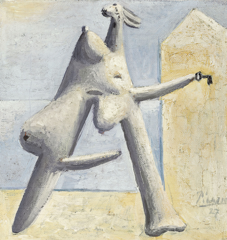 Пабло Пикассо. Композиция (женская фигура на пляже)