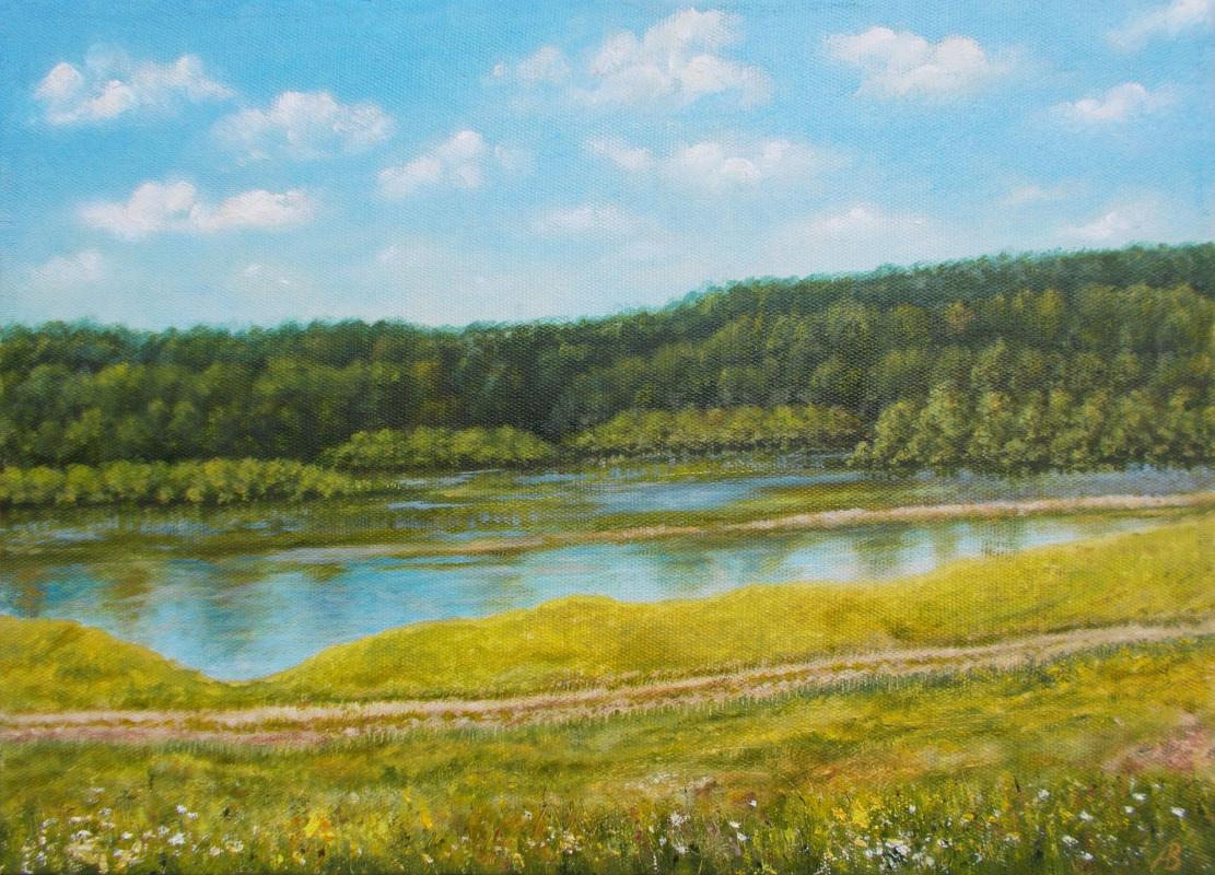 Vladimir Vasilyevich Abaimov. Inya River. Midday Heat