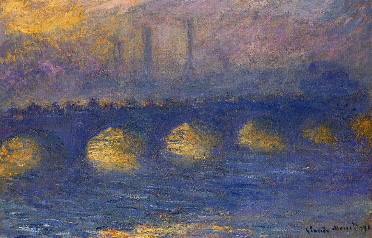 Claude Monet. Waterloo bridge, overcast weather