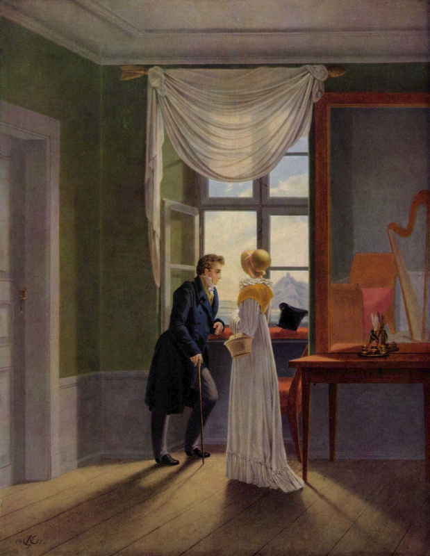 Georg Friedrich Kersting. Couple at the window