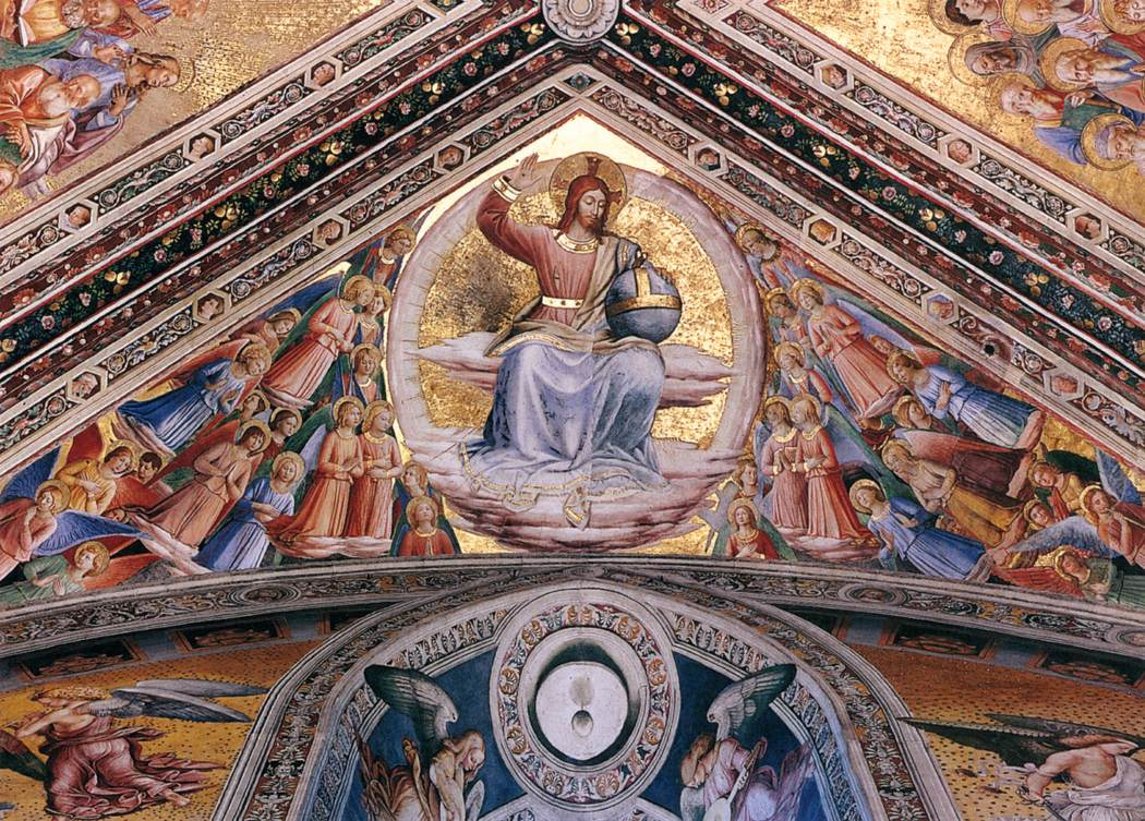 Fra Beato Angelico. The ceiling painting of the Madonna di San Brizio in Orvieto: Christ in Glory