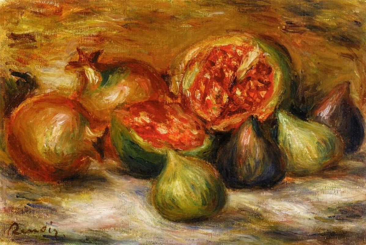 Pierre-Auguste Renoir. Still life with figs