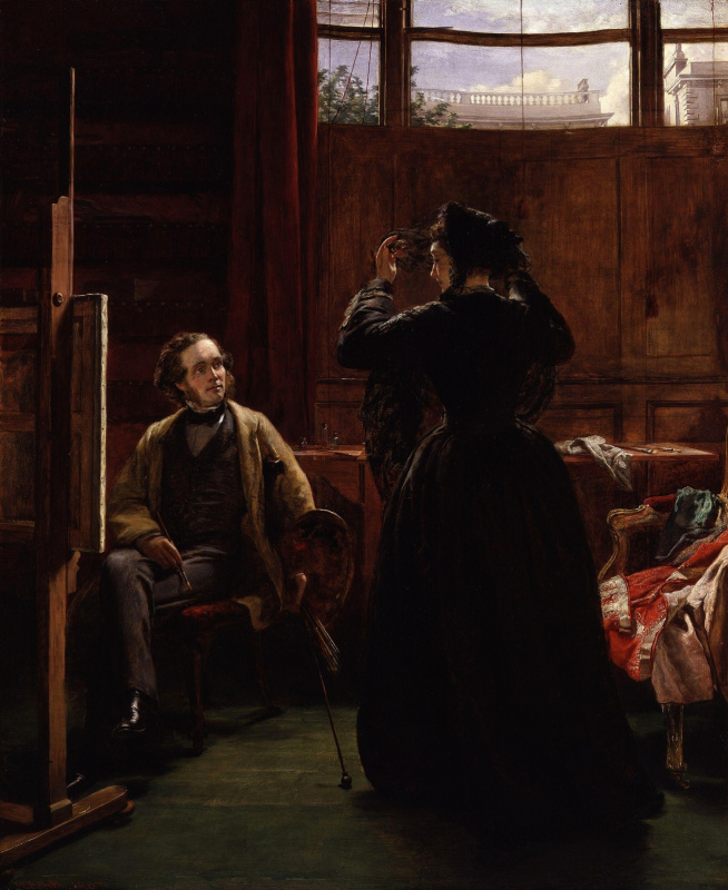 William Frayth Powell UK 1819-1909. Self portrait in the workshop. 1867