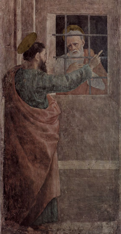 Filippino Lippi. The release of Peter from prison